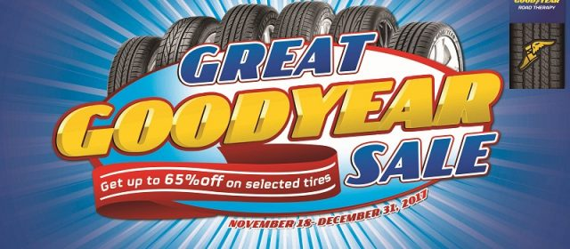 Gear Up Holiday Roadtrips with Goodyear Sale